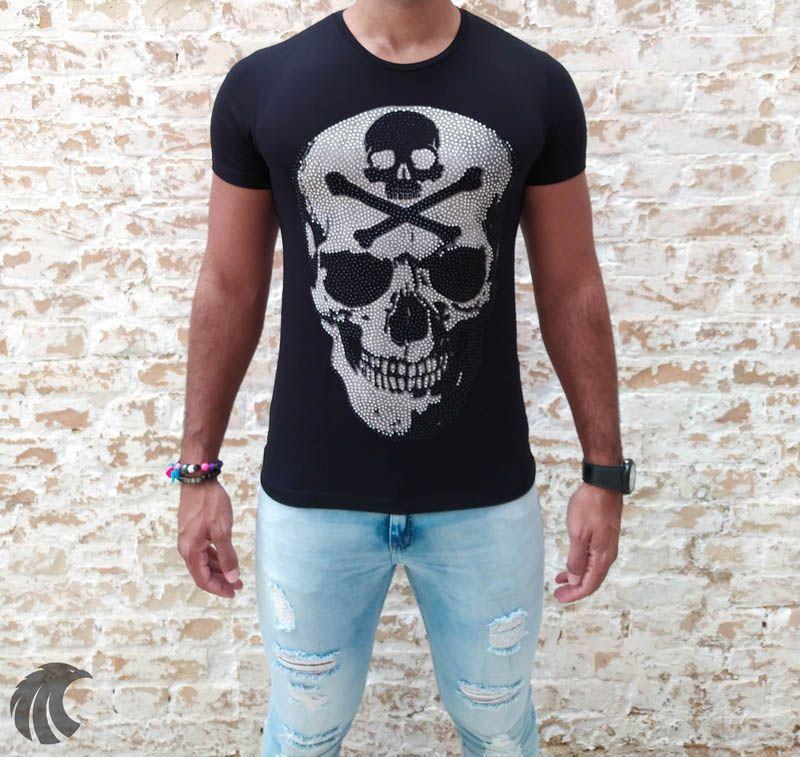 Camiseta Starpolis Danger Skull  - Harpia Moda - Moda Masculina & Acessórios