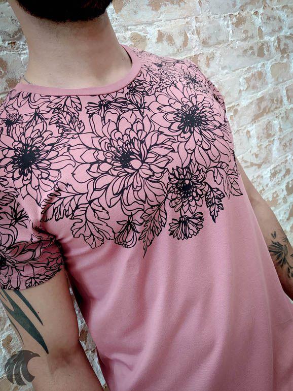 Camiseta Starpolis Floral Outlines  - Harpia Moda - Moda Masculina & Acessórios
