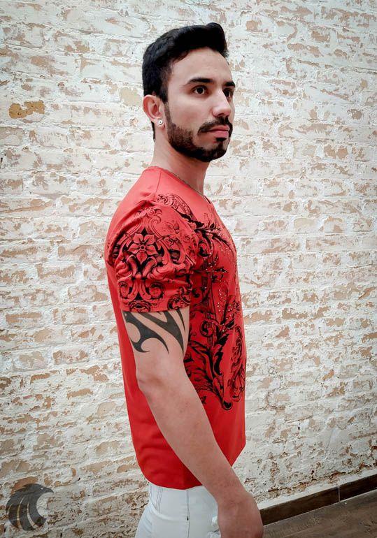 Camiseta Starpolis Flowers and Shining Stones  - Harpia Moda - Moda Masculina & Acessórios