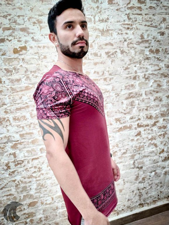 Camiseta Austin Club Flowers Ornaments Long  - Harpia Moda - Moda Masculina & Acessórios
