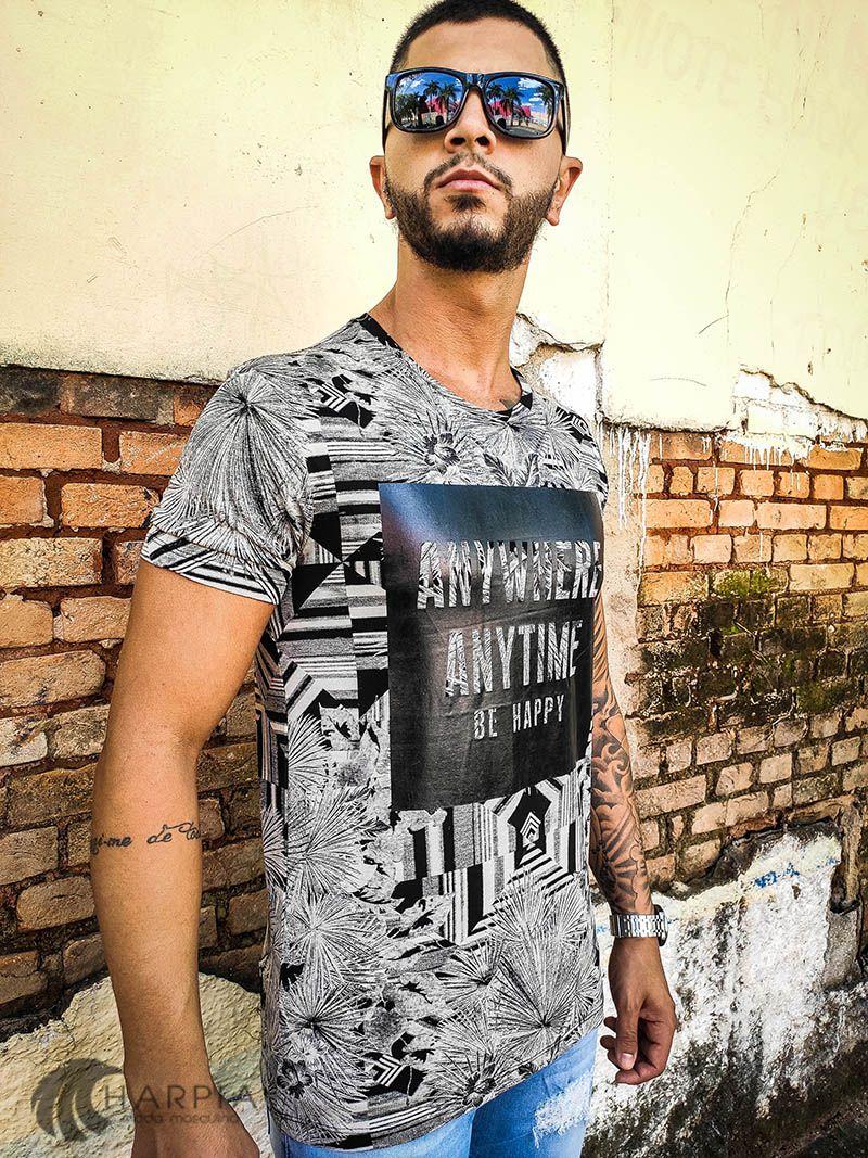 Camiseta Starpolis Gray Anywhere  - Harpia Moda - Moda Masculina & Acessórios
