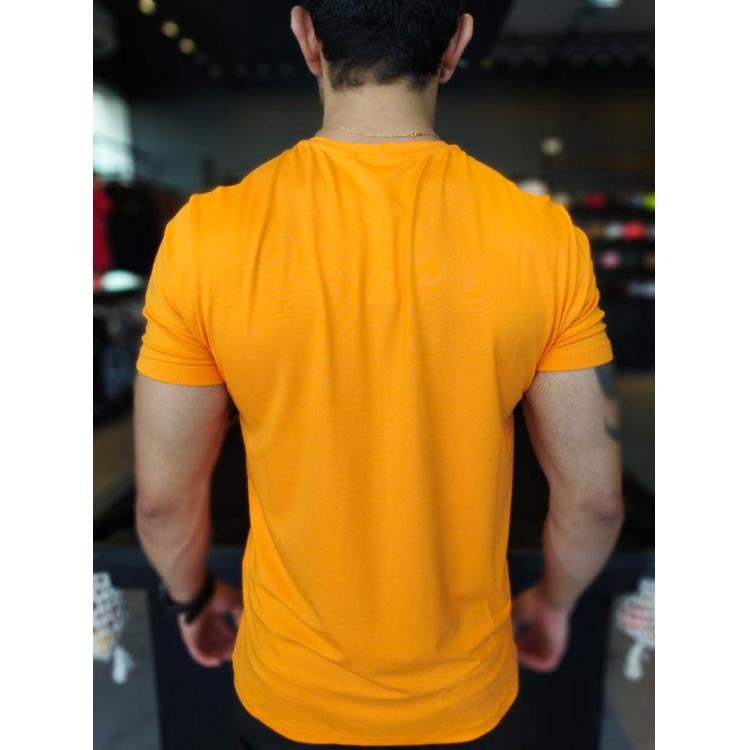 Camiseta Starpolis Laranja Neon The Ocean  - Harpia Moda - Moda Masculina & Acessórios