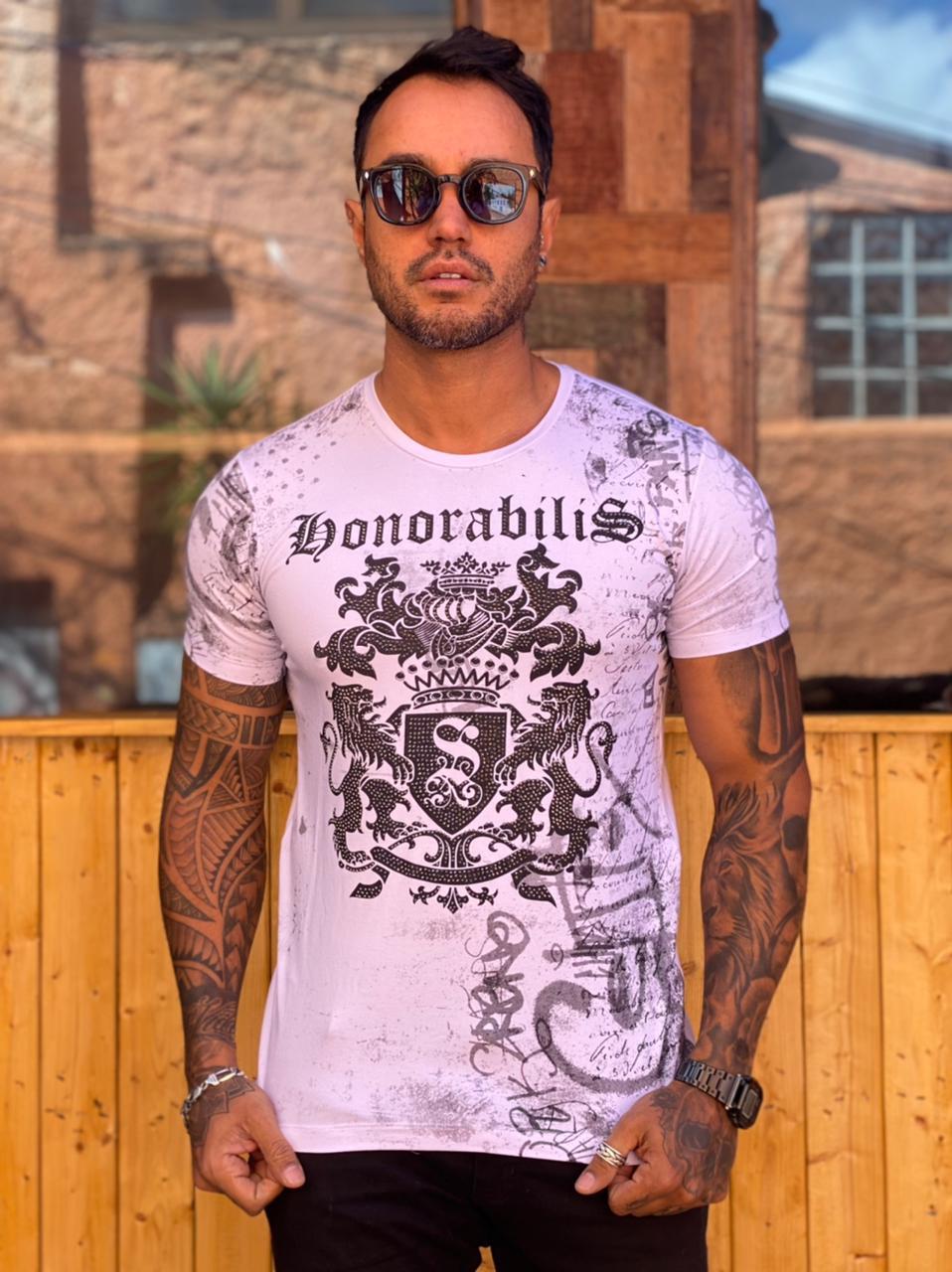 Camiseta Starpolis Branca Honorabilis  - Harpia Moda - Moda Masculina & Acessórios