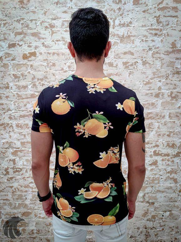 Camiseta Starpolis Orange Fruit  - Harpia Moda - Moda Masculina & Acessórios
