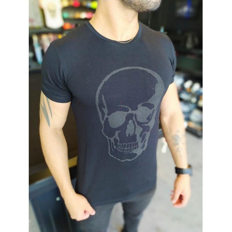 Camiseta Starpolis Preta Caveira   - Harpia Moda - Moda Masculina & Acessórios
