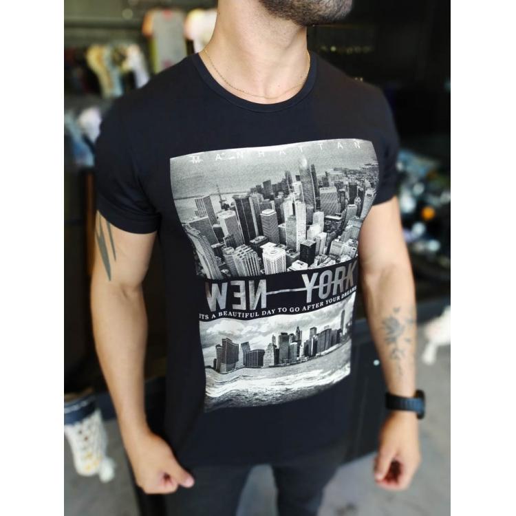 Camiseta Starpolis Preta New York   - Harpia Moda - Moda Masculina & Acessórios