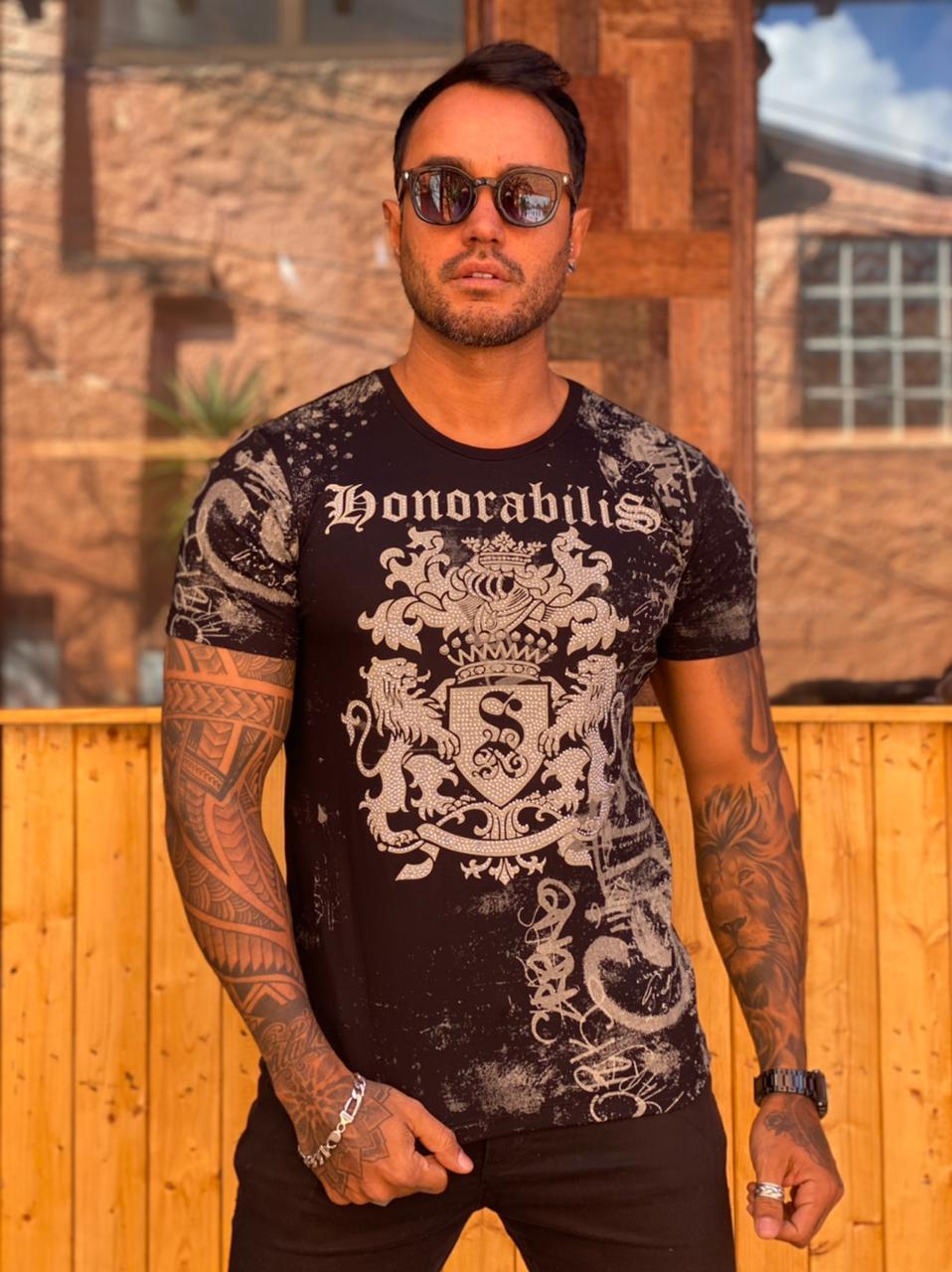 Camiseta Starpolis Preto Honorabilis  - Harpia Moda - Moda Masculina & Acessórios