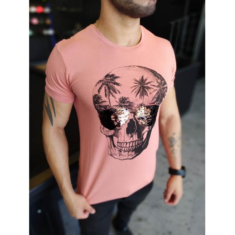 Camiseta Starpolis Rose Caveira Detalhes Oculos  - Harpia Moda - Moda Masculina & Acessórios