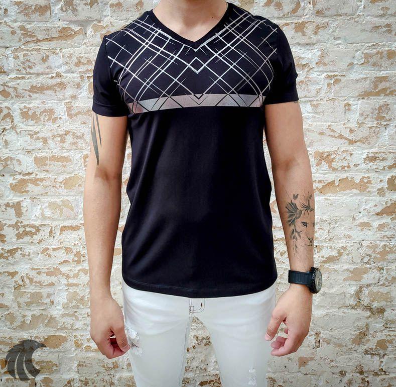Camiseta Starpolis Silver Lines  - Harpia Moda - Moda Masculina & Acessórios