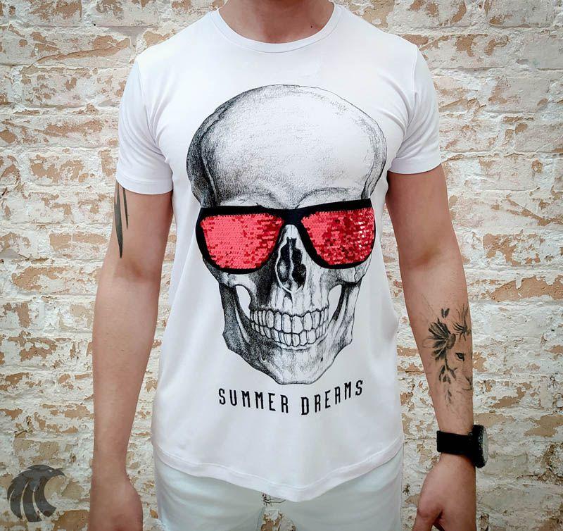 Camiseta Starpolis Skull Glow Glasses  - Harpia Moda - Moda Masculina & Acessórios