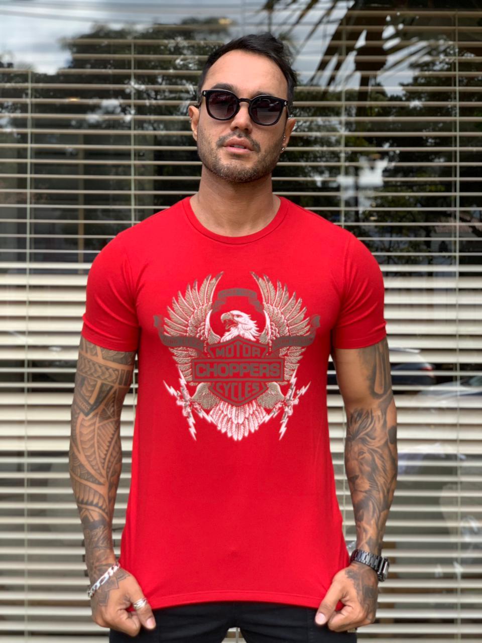 Camiseta Starpolis Vermelho Motor Shoppers  - Harpia Moda - Moda Masculina & Acessórios
