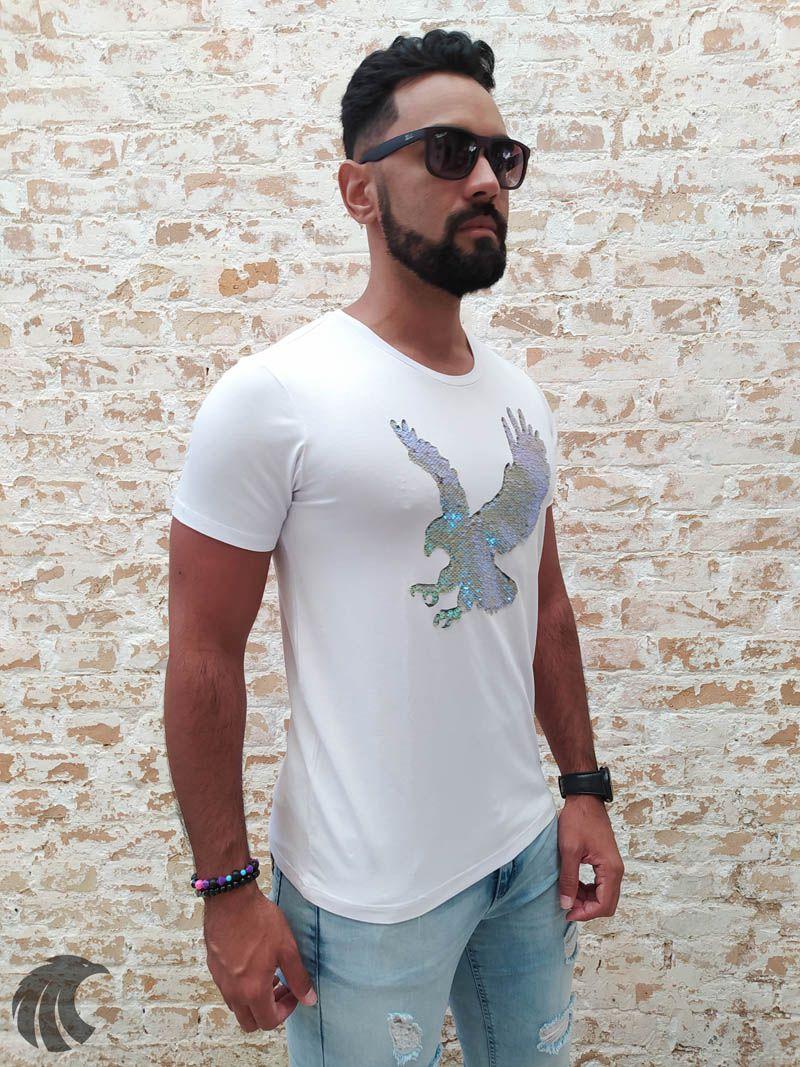 Camiseta Starpolis White Eagle Attack Glow  - Harpia Moda - Moda Masculina & Acessórios