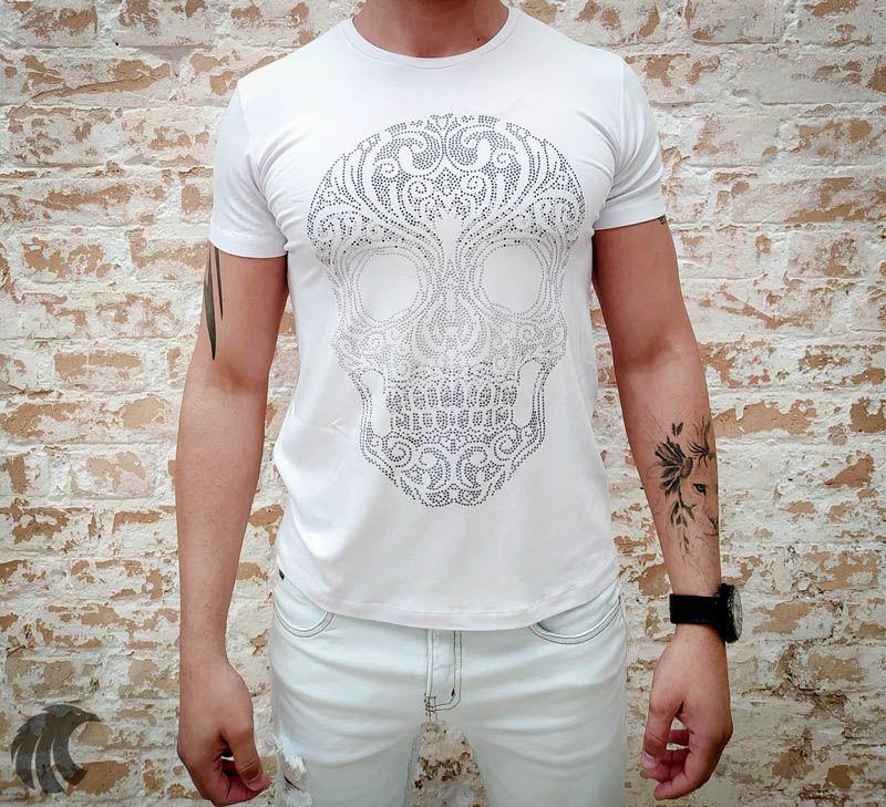 Camiseta Starpolis White Skull  - Harpia Moda - Moda Masculina & Acessórios