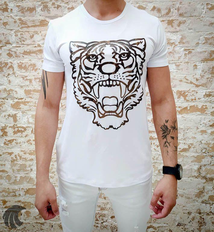 Camiseta Starpolis White Tiger  - Harpia Moda - Moda Masculina & Acessórios