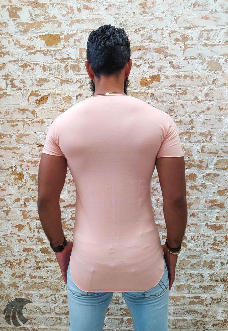 Camiseta Totanka Beige Light Long Line  - Harpia Moda - Moda Masculina & Acessórios