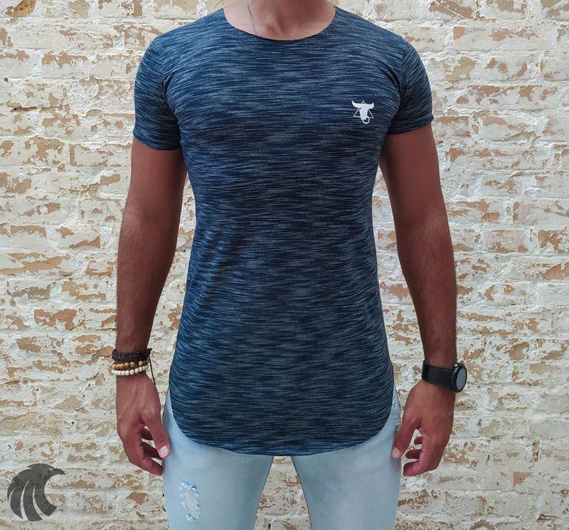 Camiseta Totanka Gray Deluxe Long Line  - Harpia Moda - Moda Masculina & Acessórios