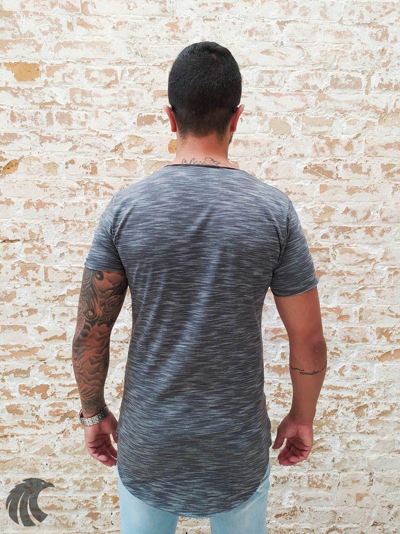 Camiseta Totanka Gray Two Deluxe Long Line  - Harpia Moda - Moda Masculina & Acessórios
