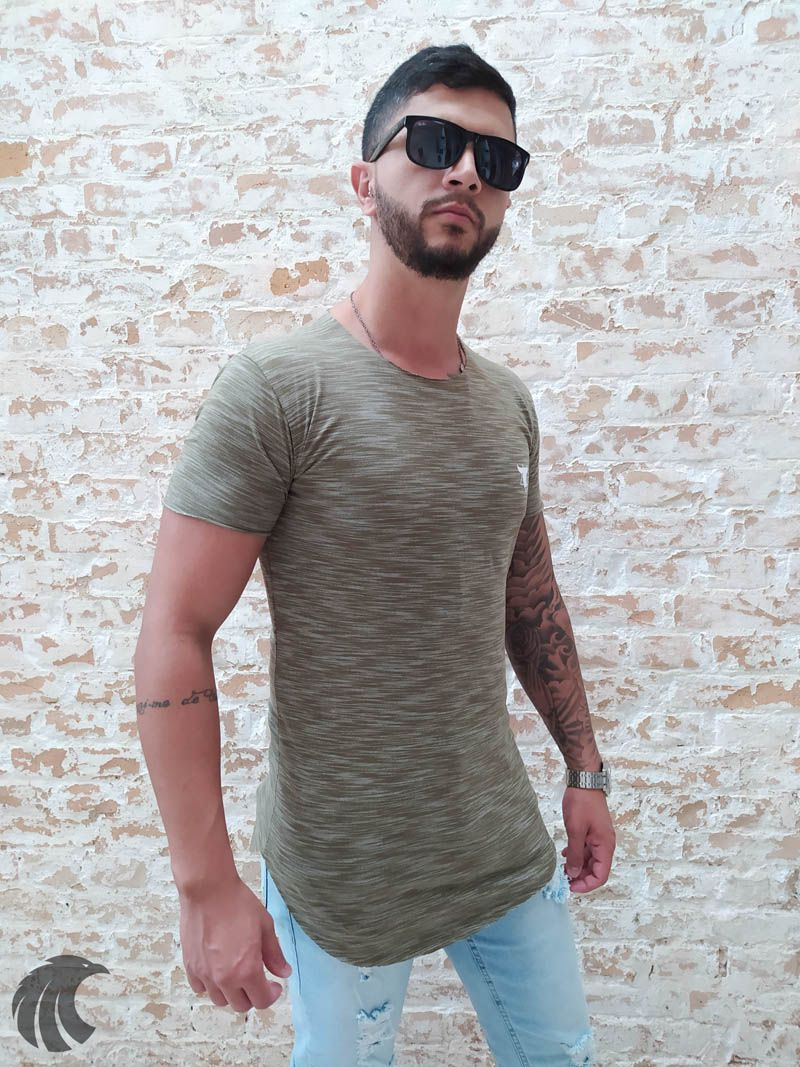 Camiseta Totanka Green Deluxe Long Line  - Harpia Moda - Moda Masculina & Acessórios