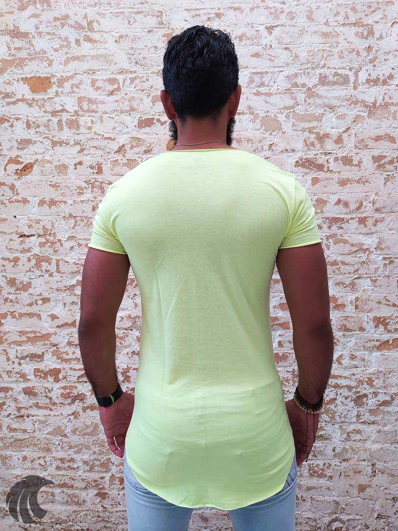 Camiseta Totanka Green Long Line  - Harpia Moda - Moda Masculina & Acessórios