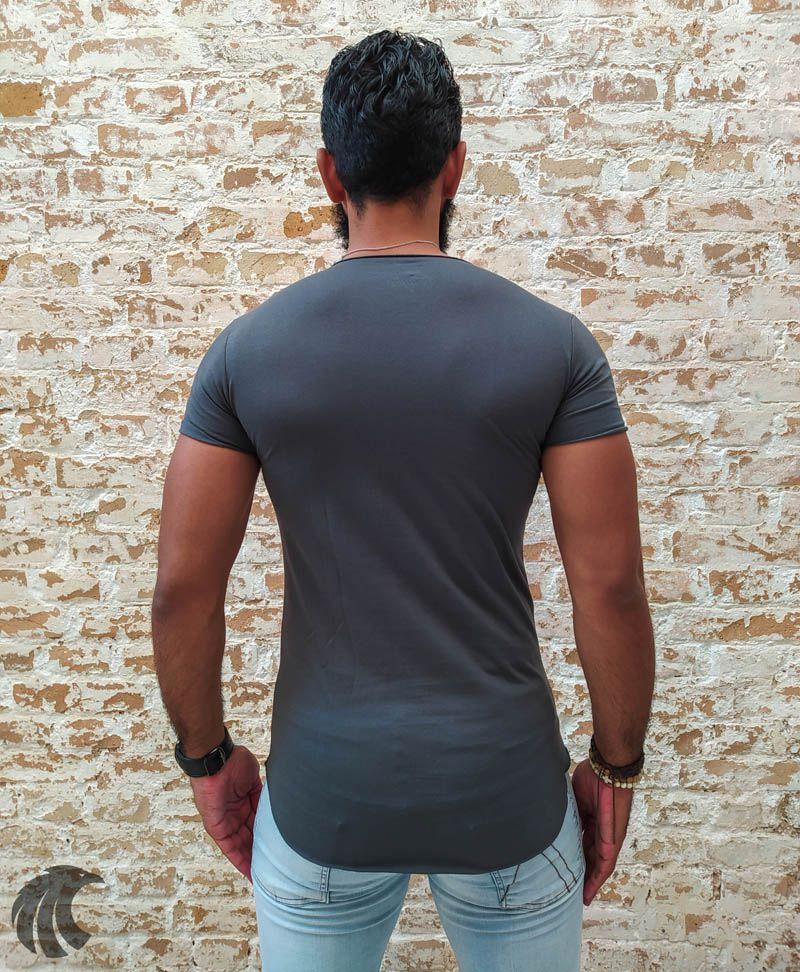 Camiseta Totanka Grey Long Line  - Harpia Moda - Moda Masculina & Acessórios