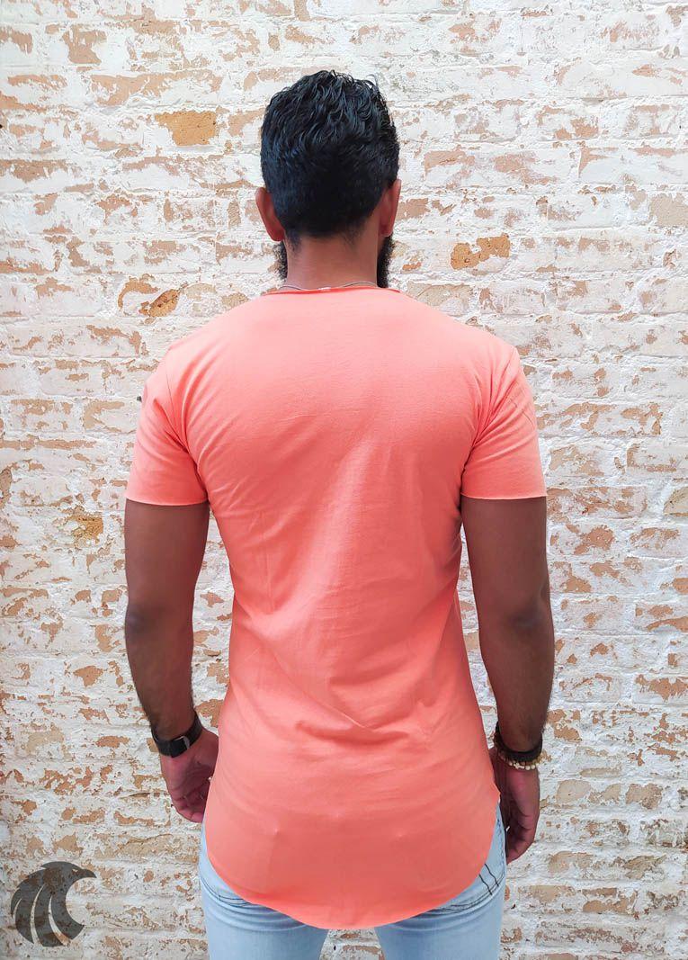 Camiseta Totanka Orange Long Line  - Harpia Moda - Moda Masculina & Acessórios