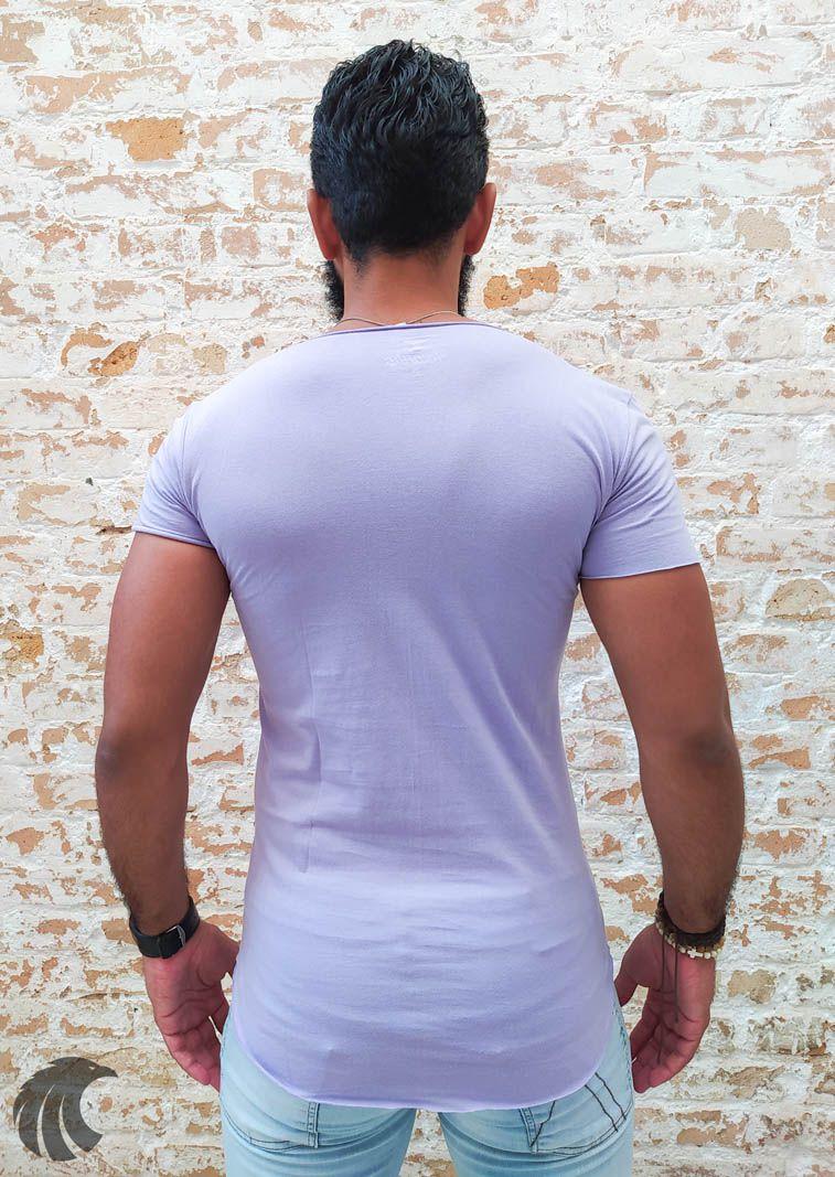 Camiseta Totanka Purple Light Long Line  - Harpia Moda - Moda Masculina & Acessórios
