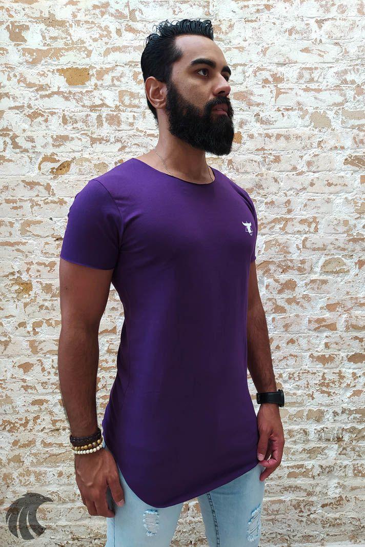 Camiseta Totanka Purple Long Line  - Harpia Moda - Moda Masculina & Acessórios
