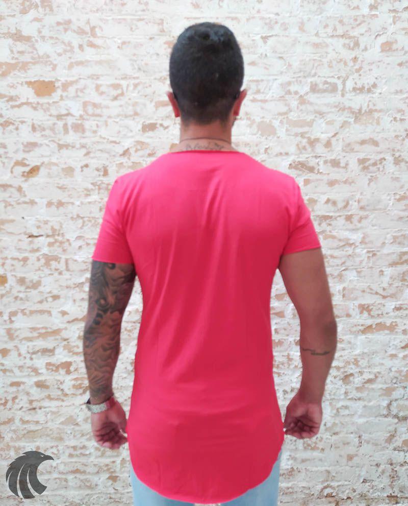 Camiseta Totanka Red Two Long Line  - Harpia Moda - Moda Masculina & Acessórios