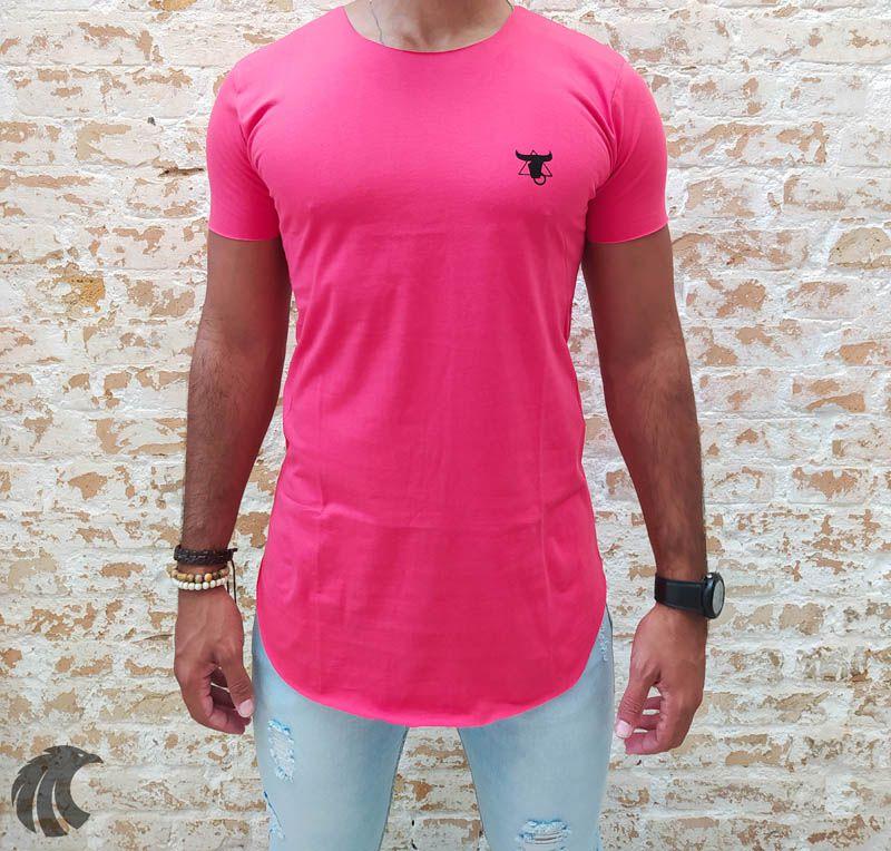 Camiseta Totanka Red Long Line  - Harpia Moda - Moda Masculina & Acessórios