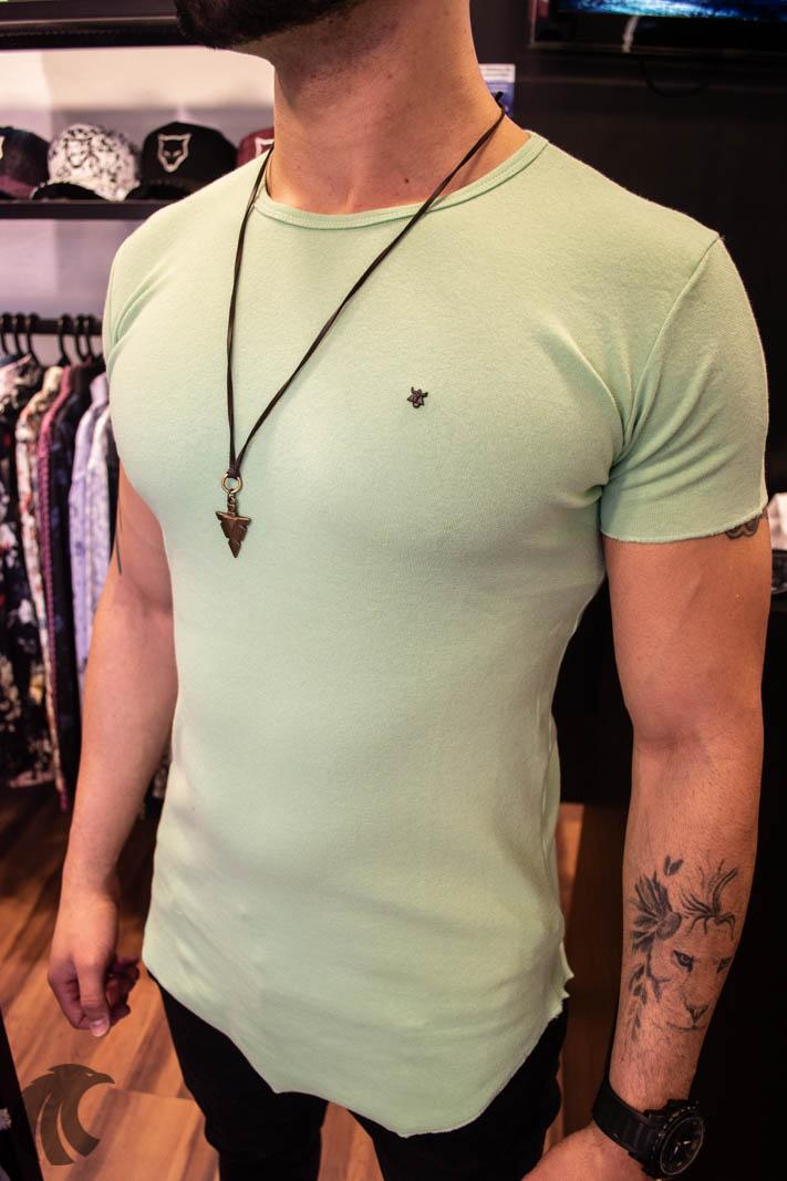Camiseta Totanka Verde Claro Tecido Ribana   - Harpia Moda - Moda Masculina & Acessórios