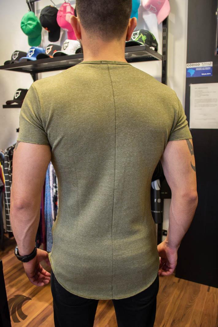 Camiseta Totanka Verde M. Rajado Tecido Ribana   - Harpia Moda - Moda Masculina & Acessórios