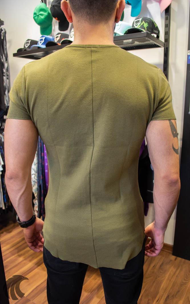 Camiseta Totanka Verde Musgo Tecido Ribana   - Harpia Moda - Moda Masculina & Acessórios