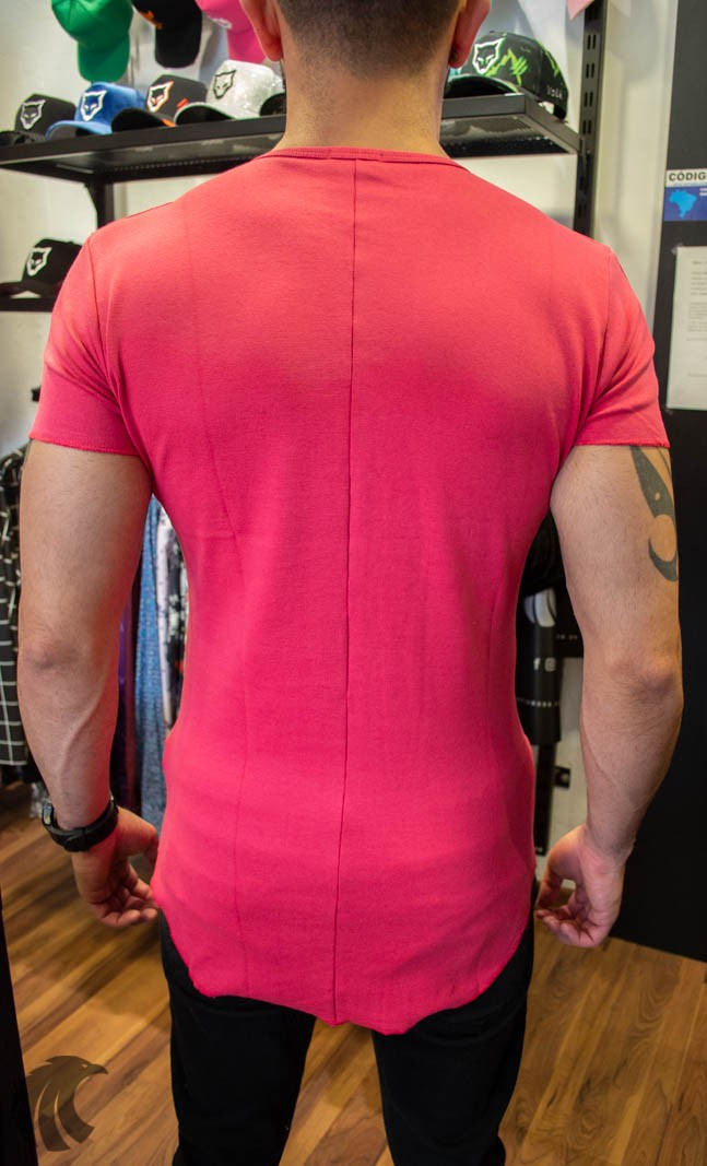 Camiseta Totanka Vermelha Tecido Ribana   - Harpia Moda - Moda Masculina & Acessórios