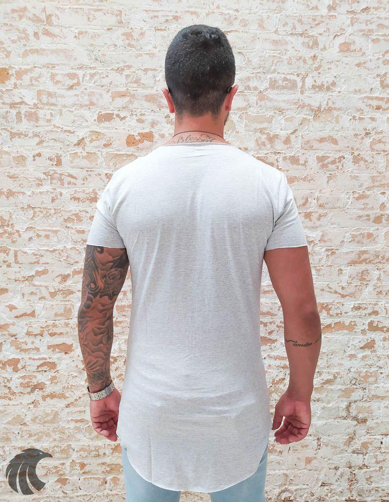 Camiseta Totanka Grey Two Deluxe Long Line  - Harpia Moda - Moda Masculina & Acessórios