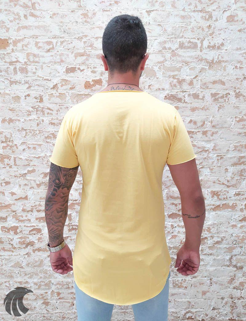Camiseta Totanka Amarela Long Line  - Harpia Moda - Moda Masculina & Acessórios