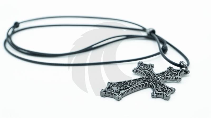 Colar Crucifixo Cursive  - Harpia Moda - Moda Masculina & Acessórios