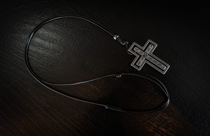Colar Crucifixo Design One  - Harpia Moda - Moda Masculina & Acessórios