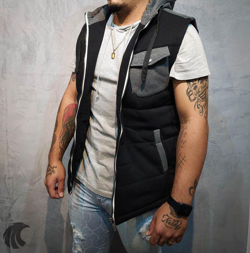 Colete Rock Soda Preto Deluxe  - Harpia Moda - Moda Masculina & Acessórios