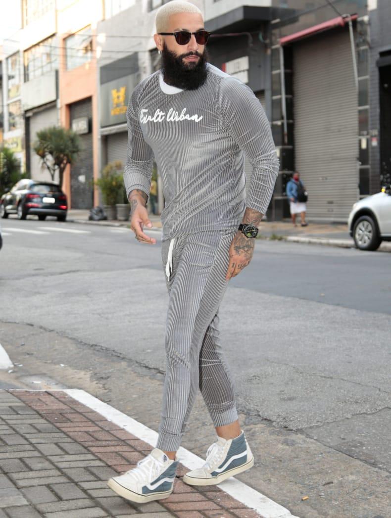 Conjunto Exalt Urban Cinza Version Prime  - Harpia Moda - Moda Masculina & Acessórios