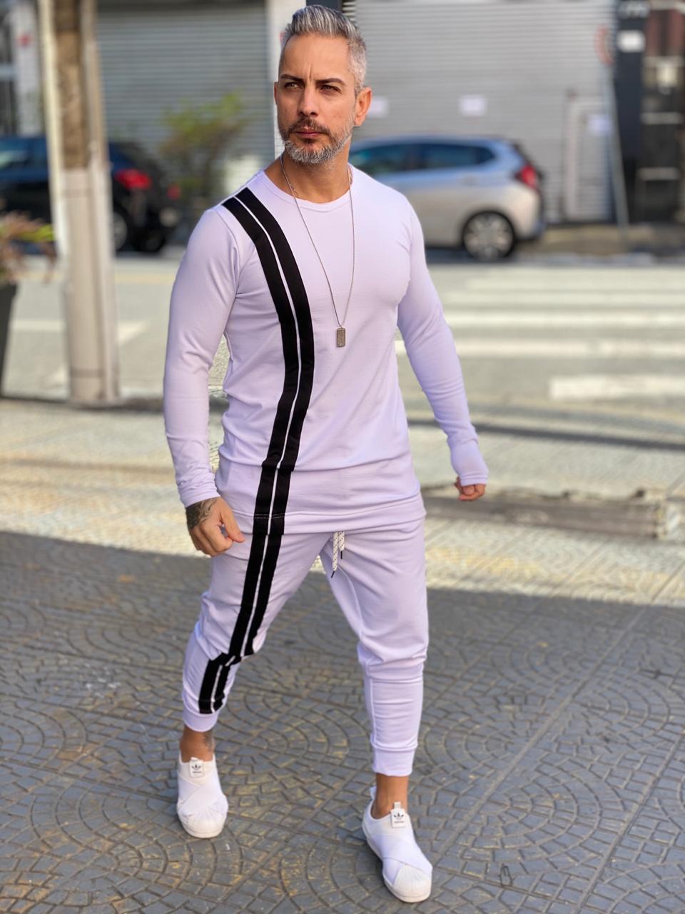 Conjunto Inverno Exalt Branco Line Front Deluxe  - Harpia Moda - Moda Masculina & Acessórios