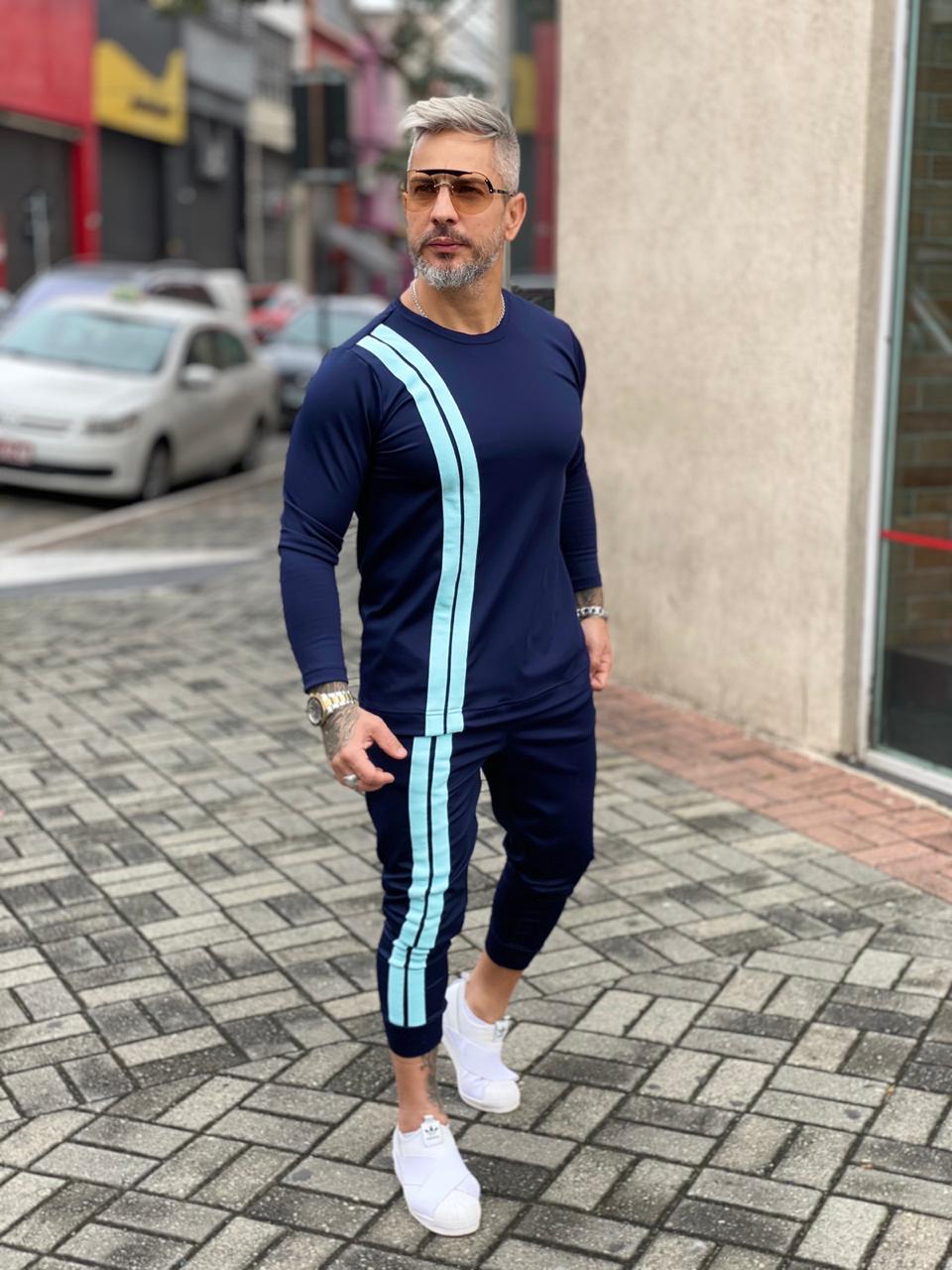 Conjunto Inverno Exalt Preto Line Two Front Deluxe  - Harpia Moda - Moda Masculina & Acessórios