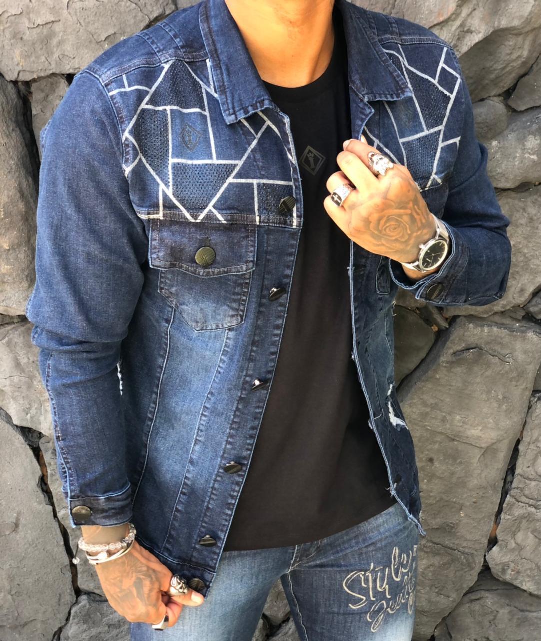 Jaqueta Codi Jeans Azul Deluxe  - Harpia Moda - Moda Masculina & Acessórios