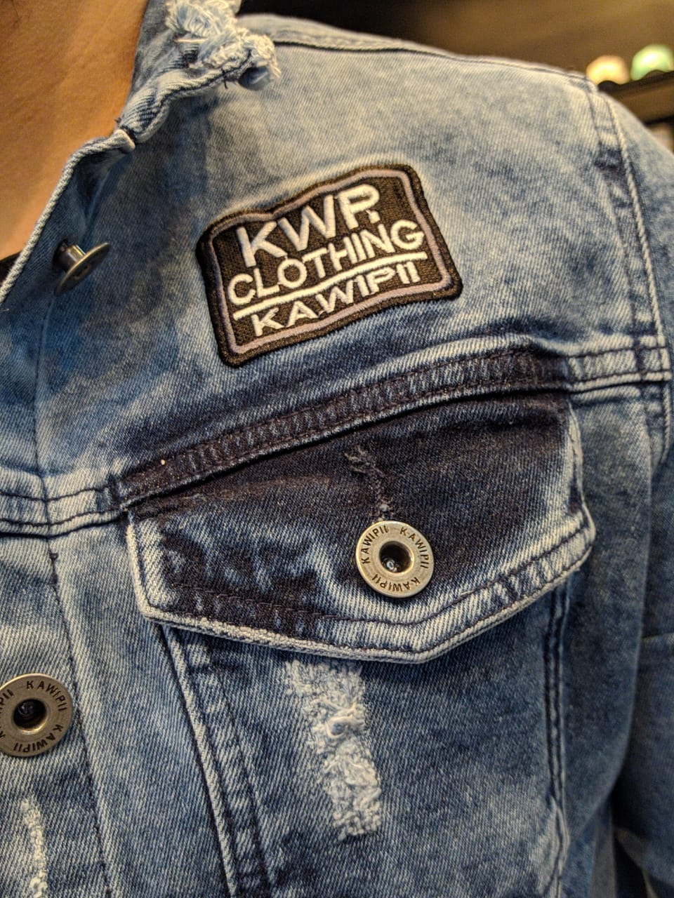 Jaqueta Jeans Kawippi Azul  - Harpia Moda - Moda Masculina & Acessórios