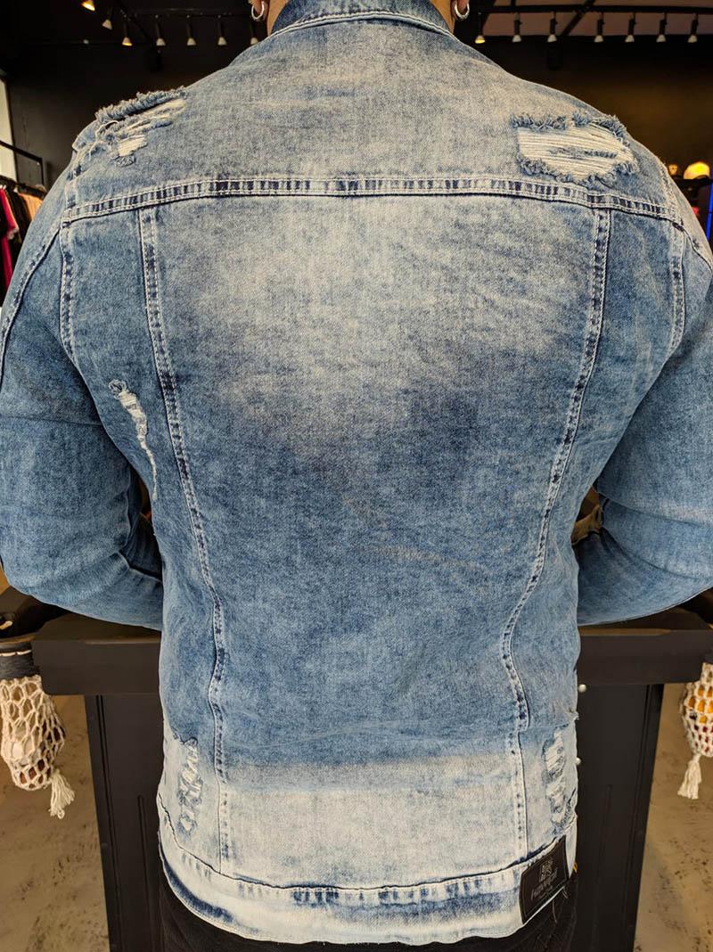 Jaqueta Jeans Kawippi Azul Claro Two  - Harpia Moda - Moda Masculina & Acessórios