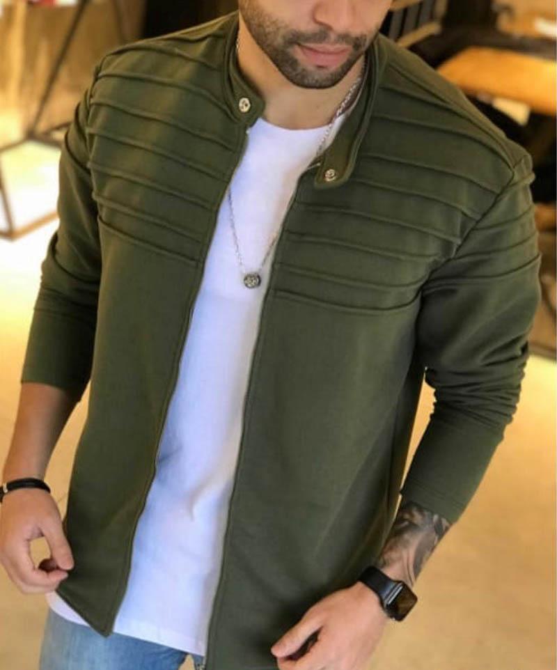 Jaqueta M Artt Moleton Verde  - Harpia Moda - Moda Masculina & Acessórios