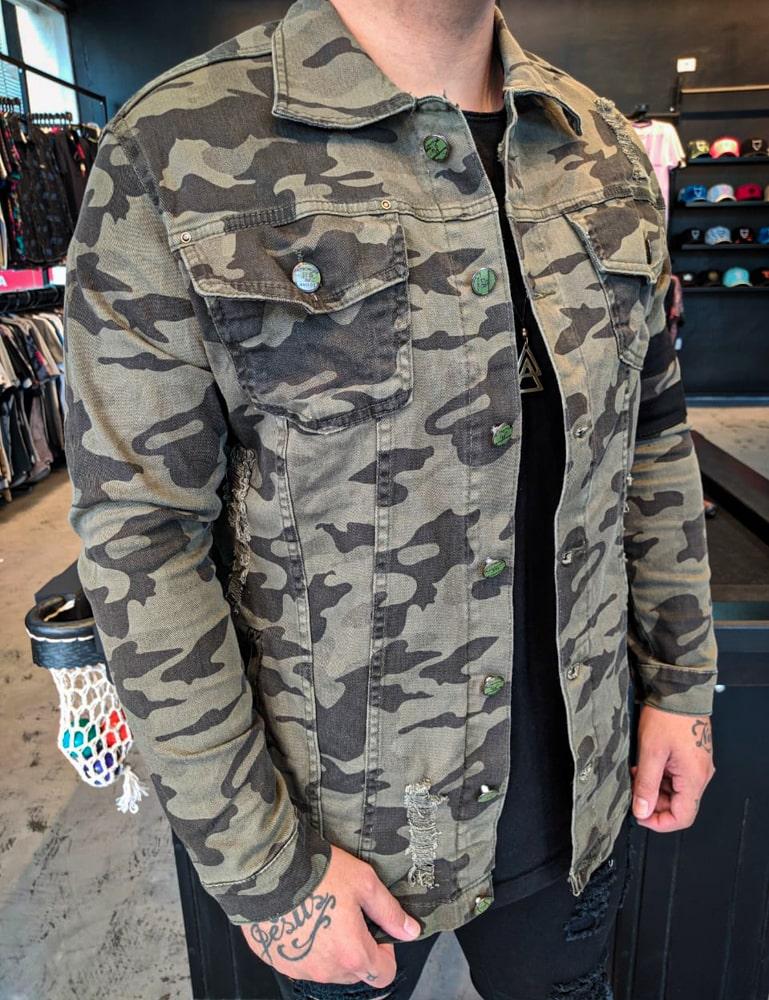 Jaqueta Militar Kawippi Camuflada  - Harpia Moda - Moda Masculina & Acessórios