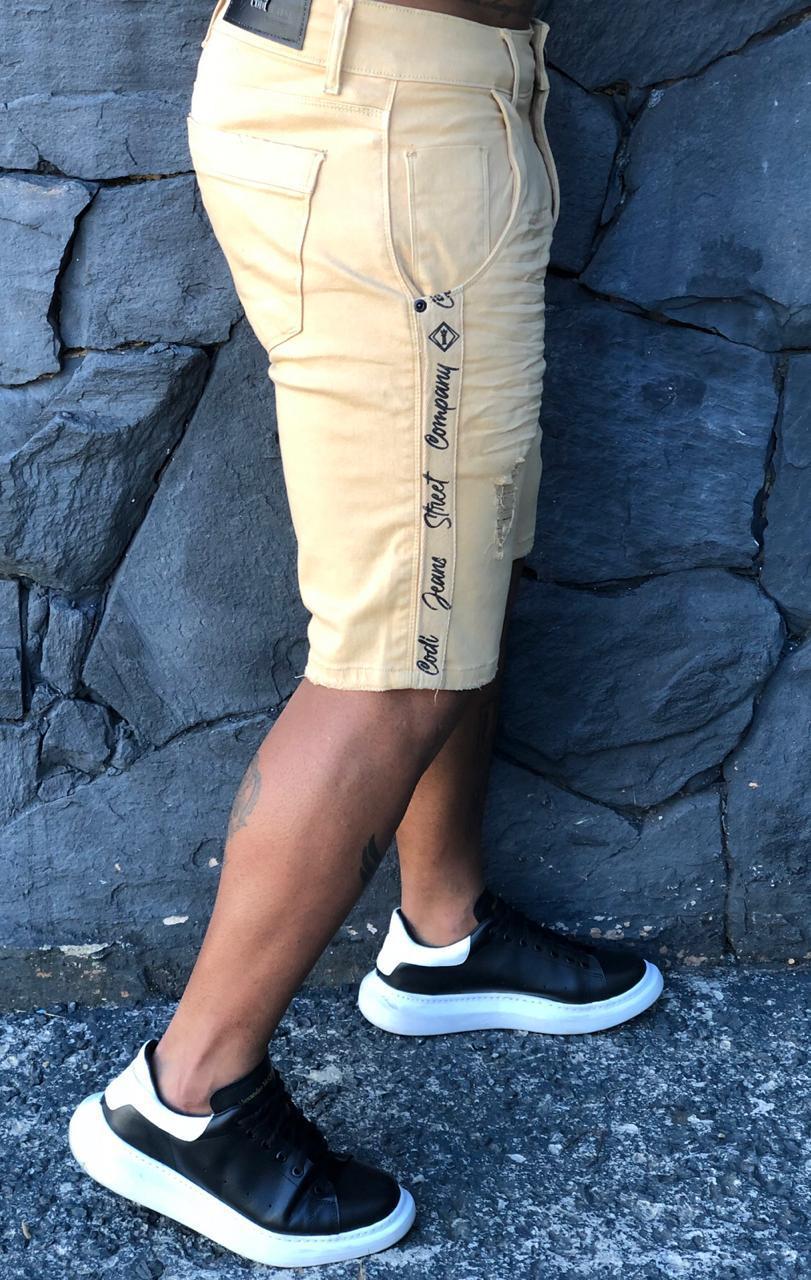 Short Jeans Codi Marrom Deluxe  - Harpia Moda - Moda Masculina & Acessórios