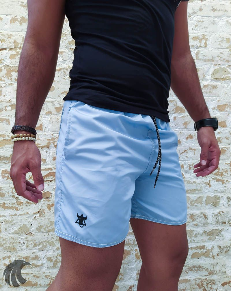 Shorts Praia Totanka Blue Basic  - Harpia Moda - Moda Masculina & Acessórios