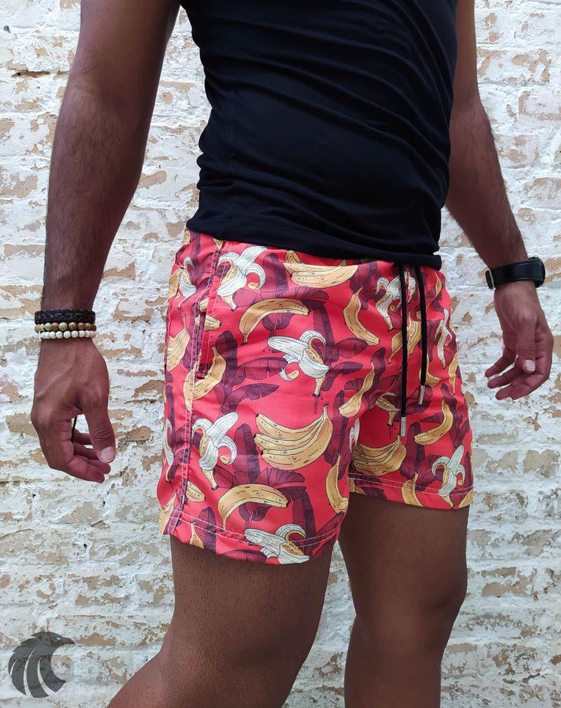 Shorts Praia PerPochi Bananas  - Harpia Moda - Moda Masculina & Acessórios