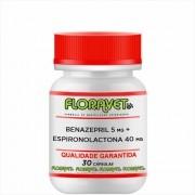 Benazepril 5 mg + Espironolactona 40 mg Pote 30 Cápsulas - Uso Veterinário